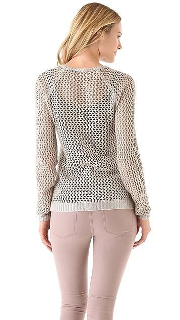 Velvet Rachel Foil Sweater