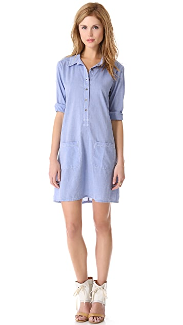 Velvet Chambray Shirtdress