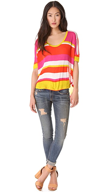Velvet Wide Stripe Tee