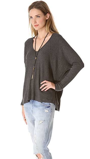 Velvet Maxella Thermal Batwing Top