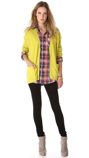 Velvet Trish Cashmere Zip Cardigan