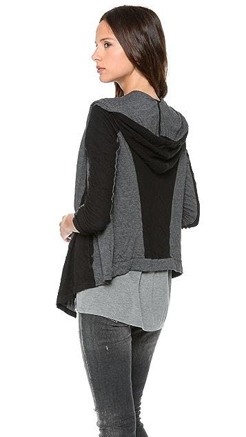 Velvet Dual Knit Hooded Cardigan