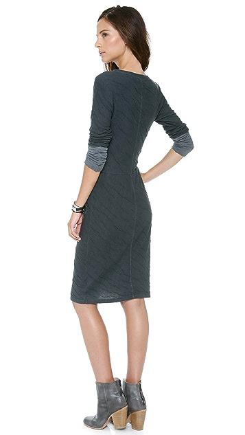 Velvet Dual Sweater Knit Dress