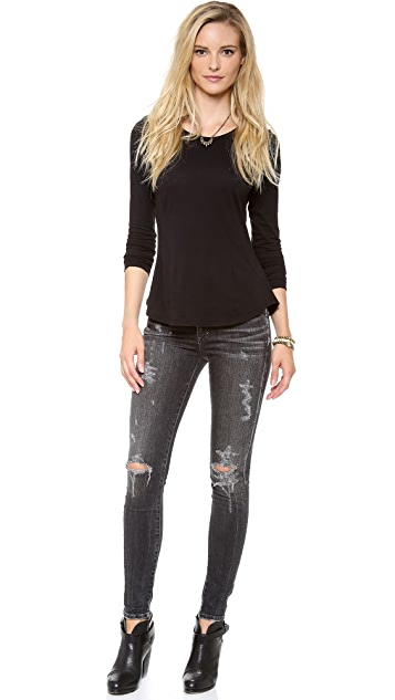 Velvet Scoop Neck Top