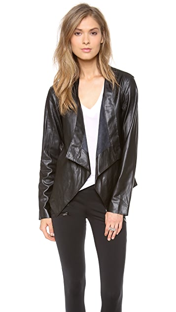 Velvet Faux Leather Motorcycle Jacket
