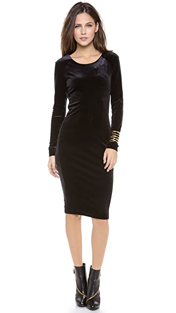 Velvet Stretch Velvet Long Sleeve Dress Shopbop