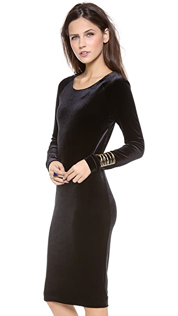 Velvet Stretch Velvet Long Sleeve Dress