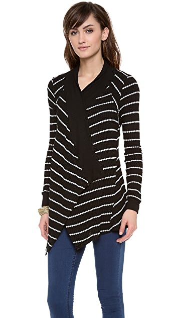 Velvet Monett Striped Thermal Cardigan
