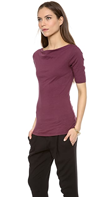 Velvet Gauzy Whisper Boat Neck Top