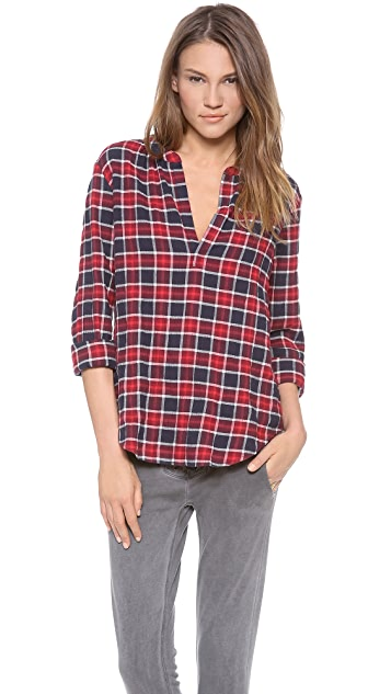 Velvet Venise Plaid Shirt