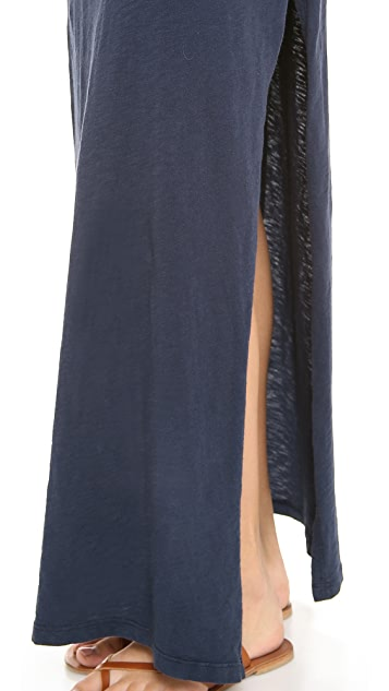 Velvet Ziggy Slub Tee Maxi Dress