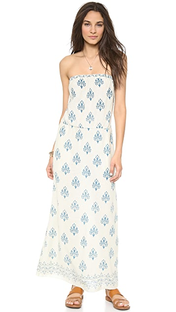 Velvet Eloise Print Silk Maxi Dress