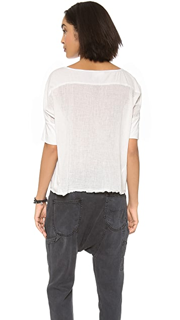 Velvet Honesty Raw Edge Dolman Top