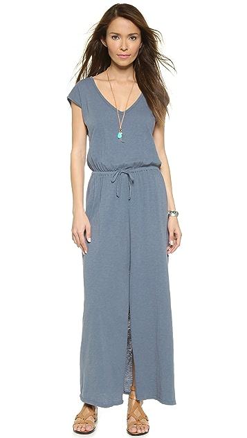 Velvet Razi Drawstring Maxi Dress
