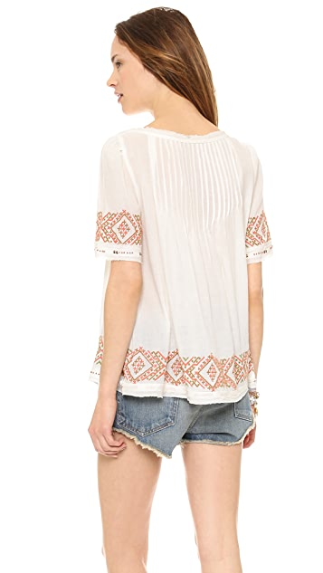 Velvet Milie Embroidered Top