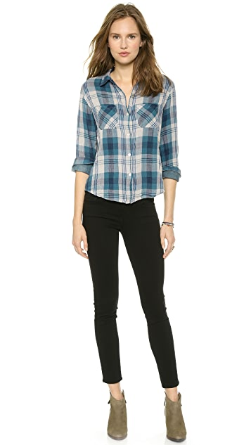 Velvet Adrianna Plaid Shirt