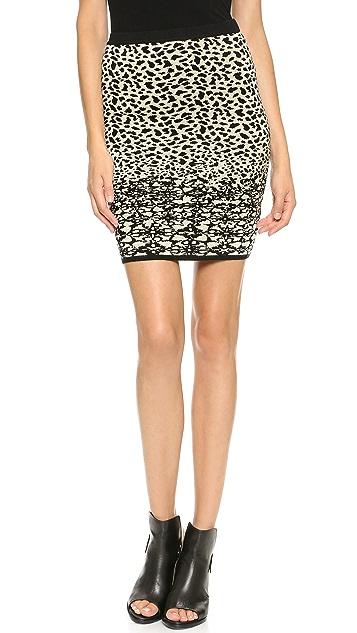 Velvet Izella Snow Leopard Skirt