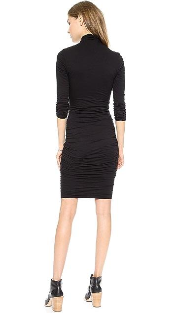 Velvet Gauzy Whisper Turtleneck Dress