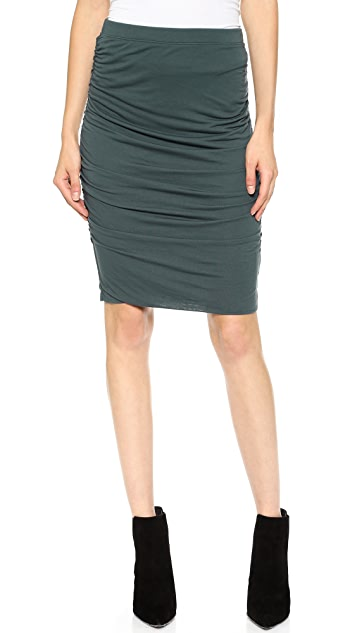 Velvet Drapey Slinky Pencil Skirt