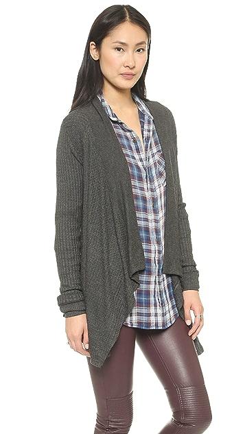 Velvet Thermal Knit Cardigan