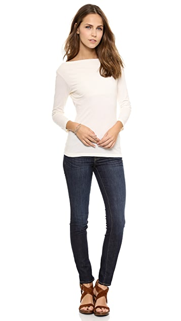 Velvet Gauzy Whisper Boatneck Top