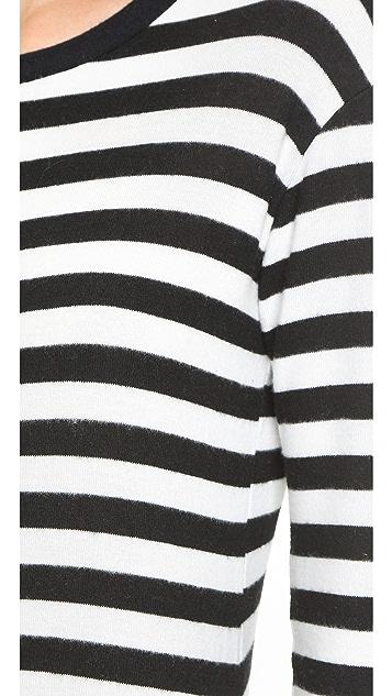 Velvet Abelia Cozy Jersey Striped Dress