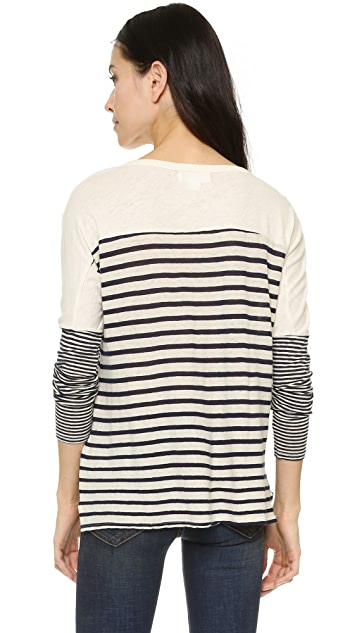 Velvet Ario Mixed Stripes Tee