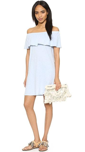 Velvet Ithaca Off Shoulder Ruffle Dress