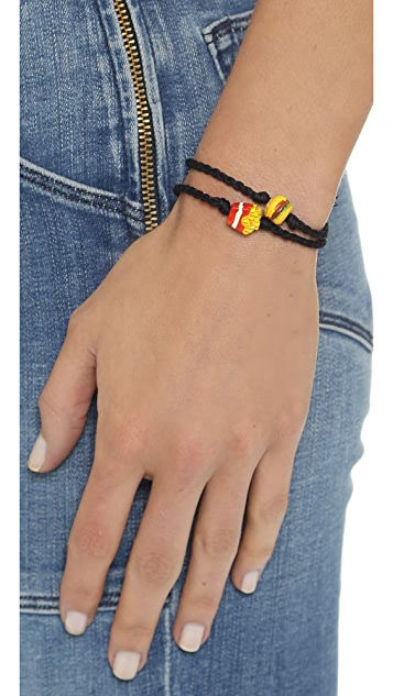 Venessa Arizaga Burger + Fries Bracelet Set