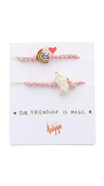 Venessa Arizaga Rainbow + Unicorn Friendship Bracelet Set