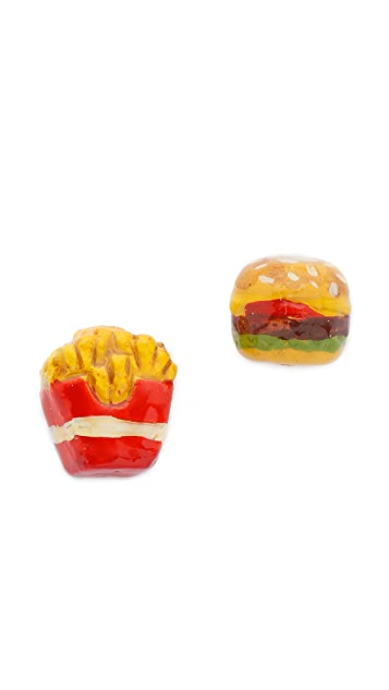 Venessa Arizaga Snack Attack Burger + Fries Earrings