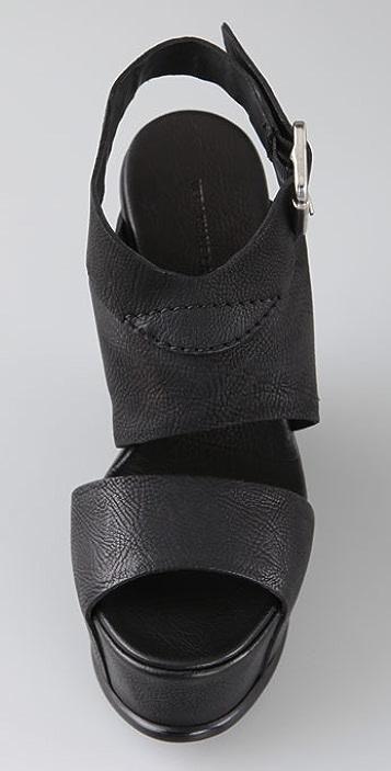 Vera Wang Rosalyn Two Band Wedge Sandals