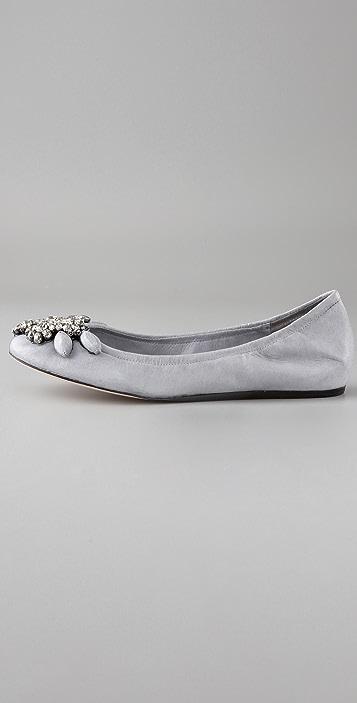 Vera Wang Lexi Jeweled Ballet Flats