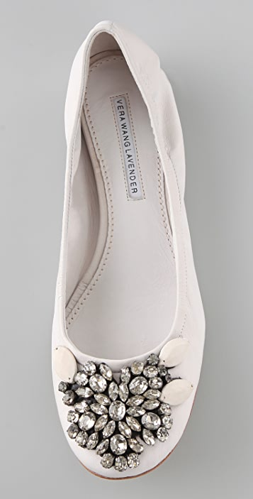 01fa7a360ba3 ... Vera Wang Lexi Jeweled Ballet Flats ...