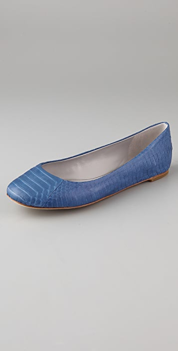 Vera Wang Lara Snake Ballet Flats