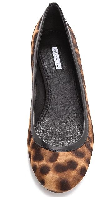 Vera Wang Hillary Leopard Haircalf Flats