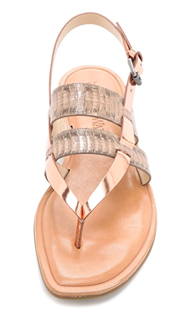 Vera Wang Annie Metallic Sandals