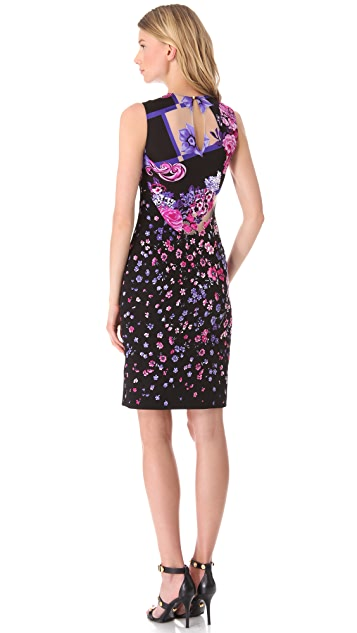 Versace Floral Devore Dress