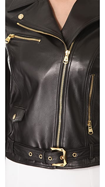 Versace Black Leather Jacket