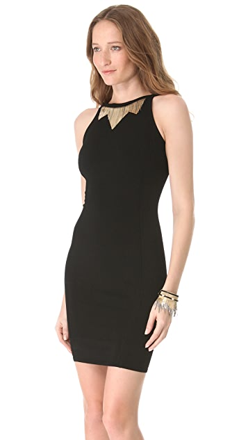 Versace Chain Fringe Sheath Dress