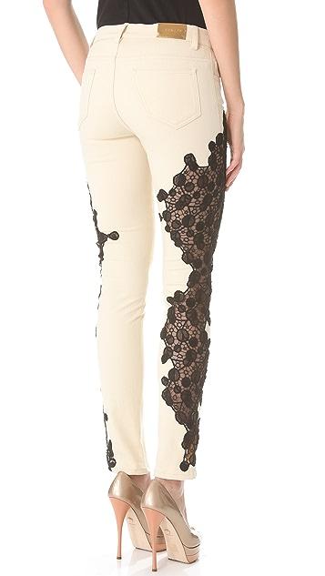 Versace Lace Inset Jeans