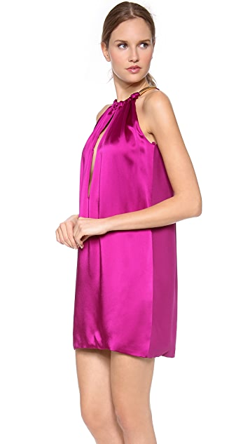 Versace Sleeveless Keyhole Dress