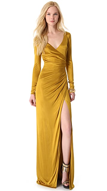 Versace Long Sleeve Gown