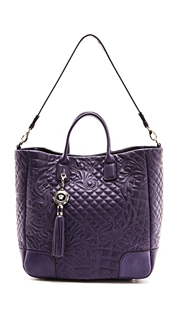 Versace Leather Quilted Tote