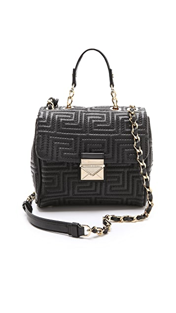 Versace Leather Quilted Cross Body Bag