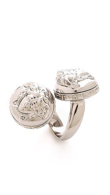 Versace Double Medusa Head Wrap Ring