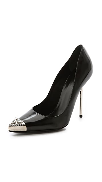 Versace Silver Tipped Heels