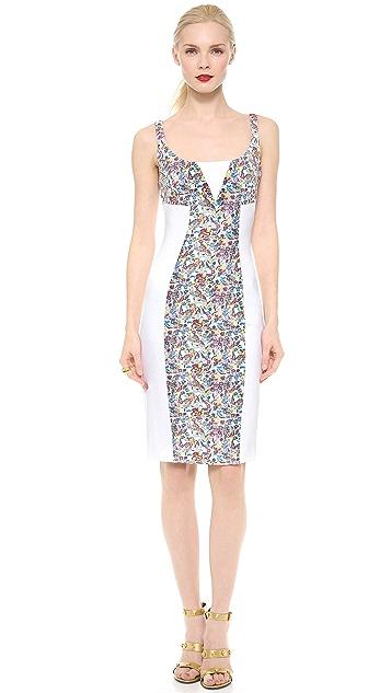 Versace Floral Panel Sheath Dress