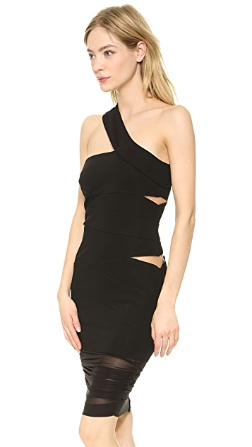 Versace Slash One Shoulder Dress