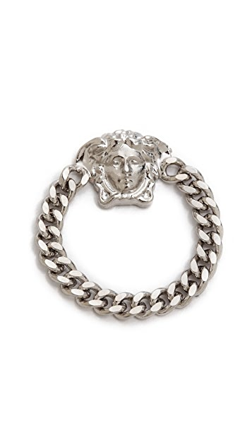 Versace Tiny Medusa Chain Ring